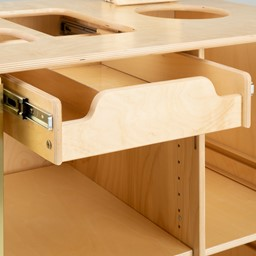 Sanitation Station w/ Baltic Birch Top - Pull Out Drawer