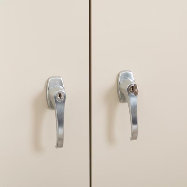 Heavy Duty Storage Cabinet w/ Adjustable Shelves - Locking Handles