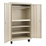 Heavy Duty Double-Door Rolling Storage Cabinet