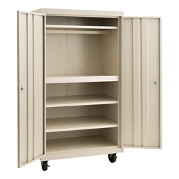 Heavy Duty Double-Door Rolling Storage Cabinet