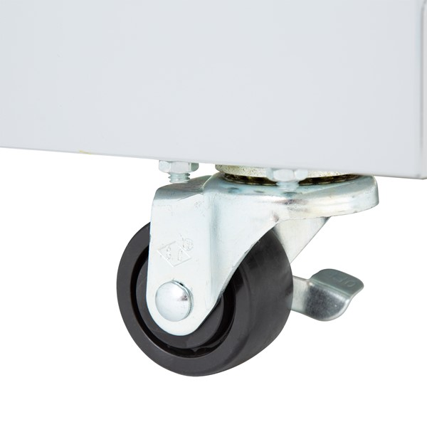 """Heavy Duty Mobile Bookcase (33"""" H) - Locking Caster"""