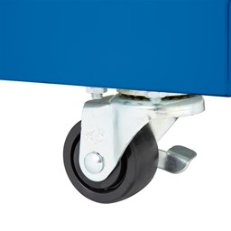 """Heavy Duty Mobile Bookcase (45"""" H) - Locking Caster"""