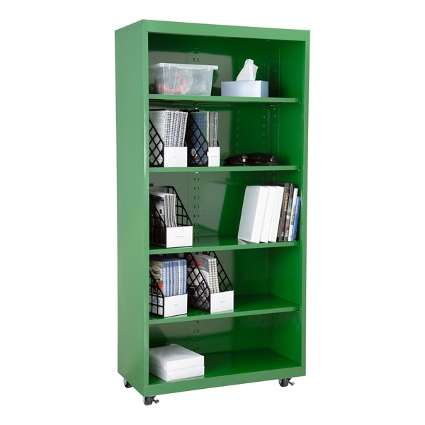 "Heavy Duty Mobile Bookcase (75"" H)"