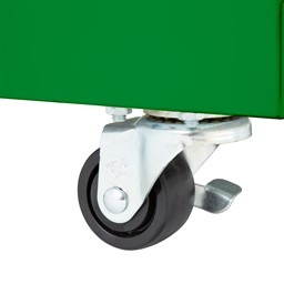Heavy Duty Mobile Bookcase - Locking Caster