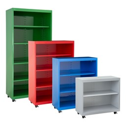 Heavy Duty Mobile Bookcase - All Sizes