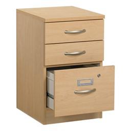 Norwood Series Three-Drawer File Pedestal