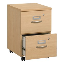 Norwood Series Two-Drawer Mobile File Pedestal