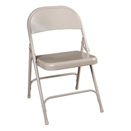 6600 Series Steel Folding Chair - Gray
