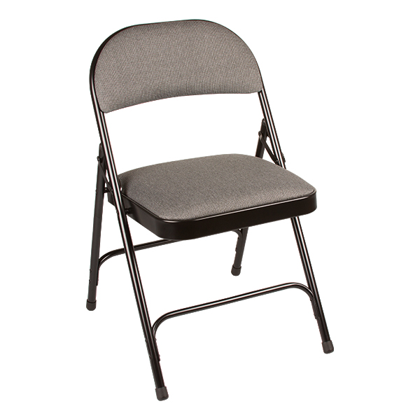 ... 6600 Series Heavy Duty Folding Chair W/ Fabric Upholstered Seat U0026 Back    Gray