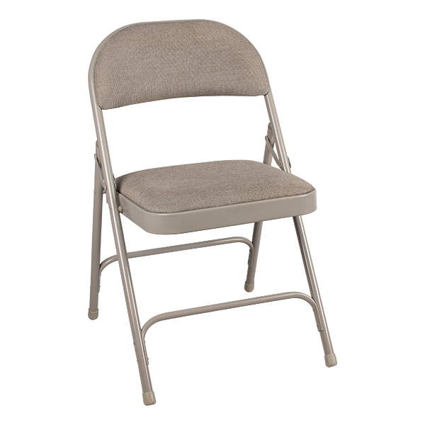 6600 Series Folding Chair W/ Fabric Upholstered Seat U0026 Back   Gray Fabric U0026  Gray. 6600 Series Heavy Duty ...