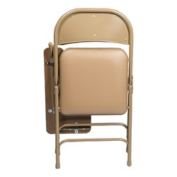6600 Series Heavy-Duty, Vinyl-Padded Folding Chair w/ Tablet Arm - Left Handed - Shown folded