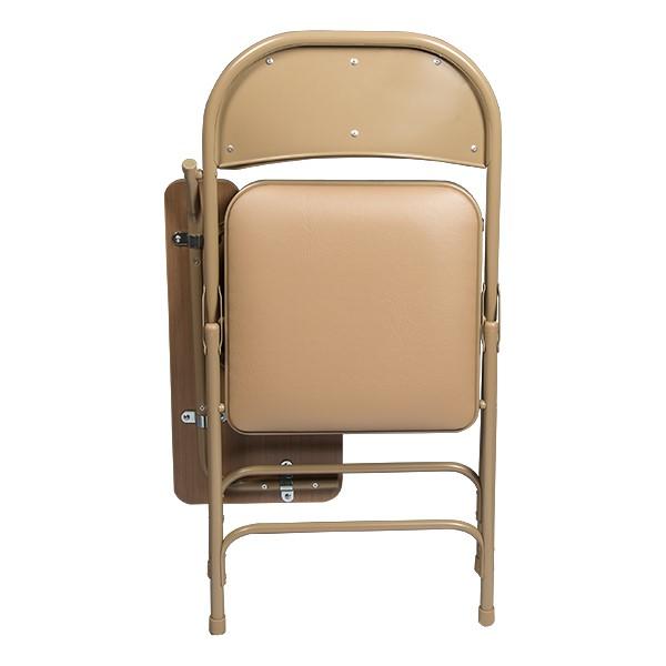 6600 Series Heavy-Duty, Vinyl-Padded Folding Chair w/ Tablet Arm - Left Handed - Shown folded