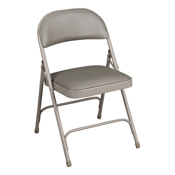 6600 Series Folding Chair w/ Vinyl Upholstered Seat & Back