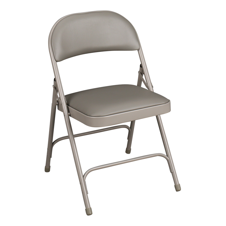 6600 Series Folding Chair W/ Vinyl Upholstered Seat U0026 Back