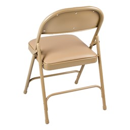 6600 Series Heavy-Duty Folding Chair w/ Vinyl Upholstered Seat & Back - Back view