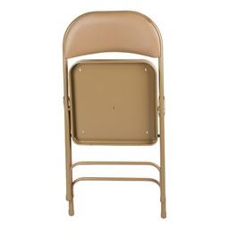 6600 Series Heavy-Duty Folding Chair w/ Vinyl Upholstered Seat & Back - Shown folded