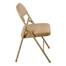 6600 Series Heavy-Duty Folding Chair w/ Vinyl Upholstered Seat & Back - Side view