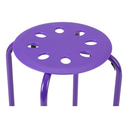 Assorted Color Plastic Stack Stool