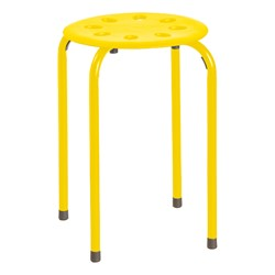 Assorted Color Plastic Stack Stool - Yellow