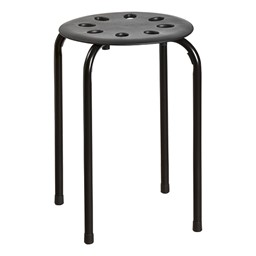 Plastic Stackable Stool - Black