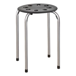 Norwood Commercial Furniture Plastic Stack Stool W Silver