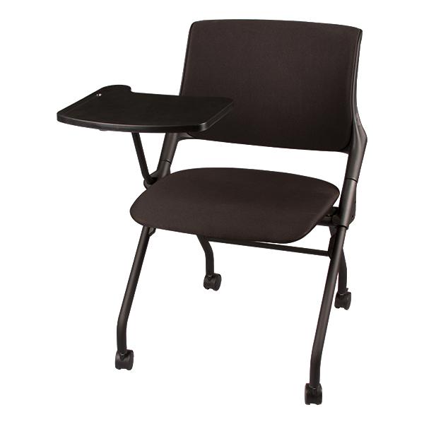 Upholstered Tablet Arm Nesting Chair
