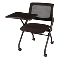 Mesh Back Tablet Arm Nesting Chair