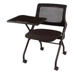 mesh back tablet arm nesting chair at school outfitters