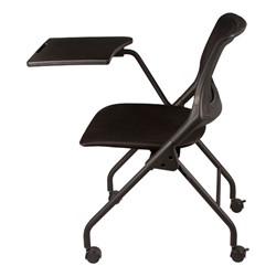 Mesh Back Tablet Arm Nesting Chair - Side view