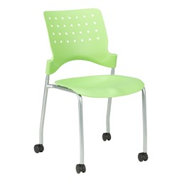 Ballard Mobile Plastic Stack Chair - Green Apple