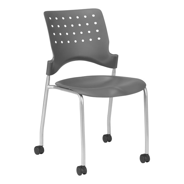 Ballard Mobile Plastic Stack Chair - Graphite