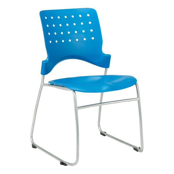 Ballard Plastic Stack Chair - Brilliant Blue