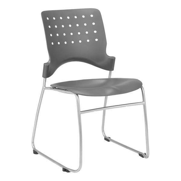 Ballard Plastic Stack Chair - Graphite
