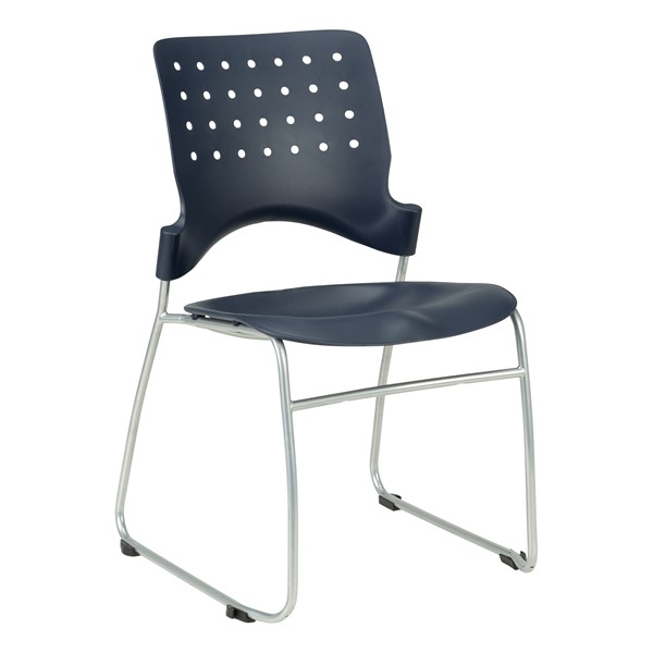 Ballard Plastic Stack Chair - Navy