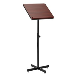 Adjustable-Height Lectern Stand - Front