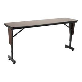 "Adjustable-Height Panel-Leg Folding Training Table (60\"" W x 18\"" D)"