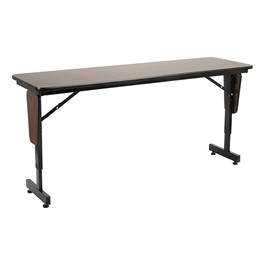 "Adjustable-Height Panel-Leg Folding Training Table (60"" W x 18\"" D)"