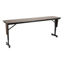 "Adjustable-Height Panel-Leg Folding Training Table (72\"" W x 18\"" D)"