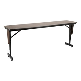 "Adjustable-Height Panel-Leg Folding Training Table (72"" W x 18\"" D)"