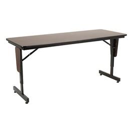 "Adjustable-Height Panel-Leg Folding Training Table (60\"" W x 24\"" D)"