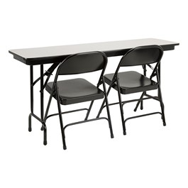 Melamine Folding Training Table w/ 6600 Series Heavy-Duty Steel Folding Chairs