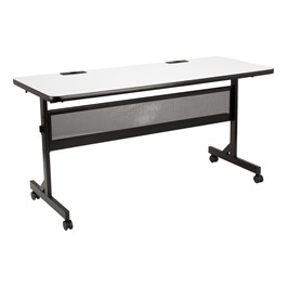 "Merit Series III Whiteboard Flip Top Training Table (24\"" W x 60\"" L)"