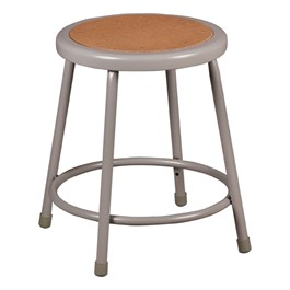 "Metal Lab Stool - Fixed Height (18"" H)"