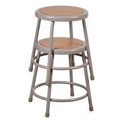 """Metal Lab Stool - Fixed Height (18"""" H) Shown stacked"""