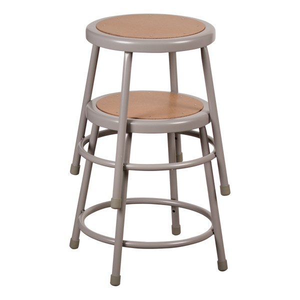 "Metal Lab Stool - Fixed Height (18"" H) Shown stacked"