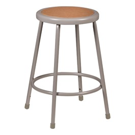 Learniture Metal Lab Stool Gray Fixed Height 24 Quot H At