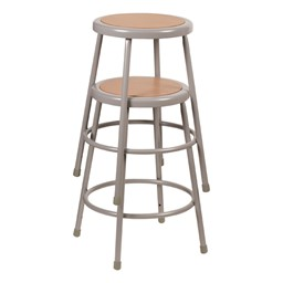"Metal Lab Stool - Fixed Height (24"" H)<BR>2 shown"