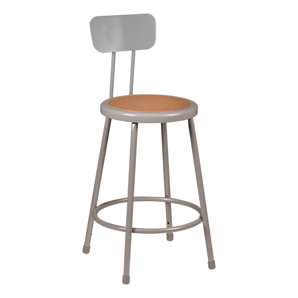 Strange Learniture Metal Lab Stool W Backrest At School Outfitters Lamtechconsult Wood Chair Design Ideas Lamtechconsultcom