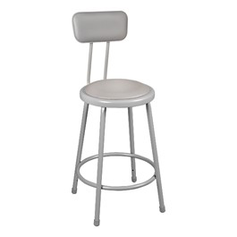 Learniture Padded Metal Lab Stool W Backrest At School