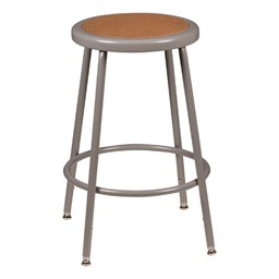 "Metal Lab Stool - Adjustable Height (24 1/2"" - 32 1/2"" H)"